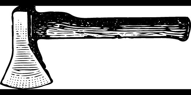 hatchet ax axe 183 free vector graphic on pixabay