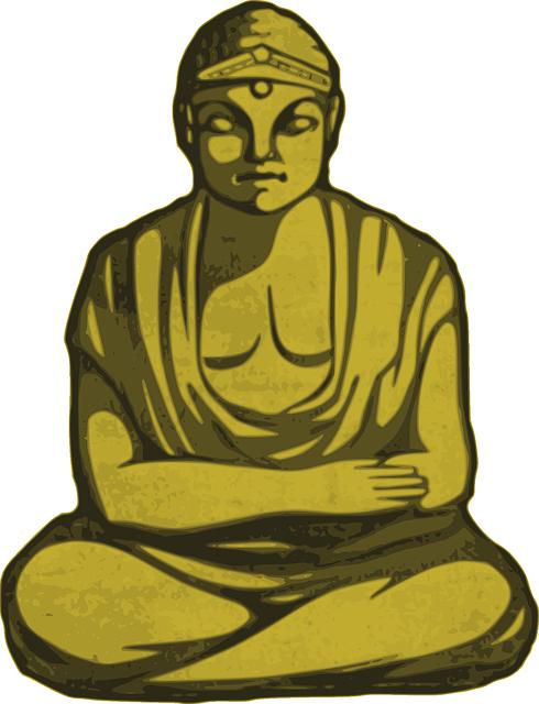 buddha gold religion  u00b7 free vector graphic on pixabay buddhist temple clipart buddhism clip art black and white