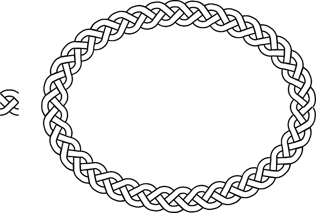 Border Braid Frame · Free vector graphic on Pixabay Closed Book Silhouette