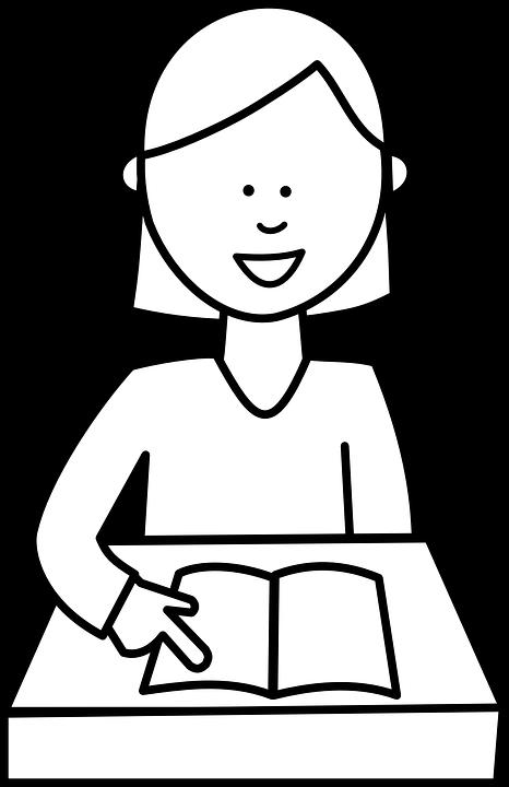 School Book Girl Free Vector Graphic On Pixabay