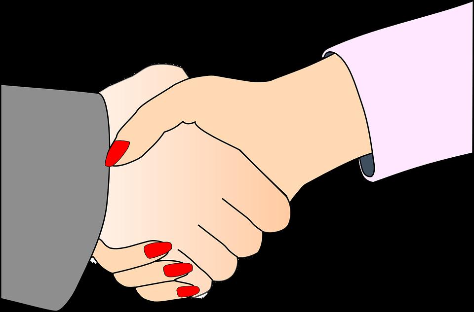 woman partners handshake shaking free vector graphic on pixabay rh pixabay com handshake clipart images handshake clipart black & white man