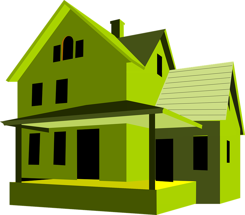 House, Green, Home, Building
