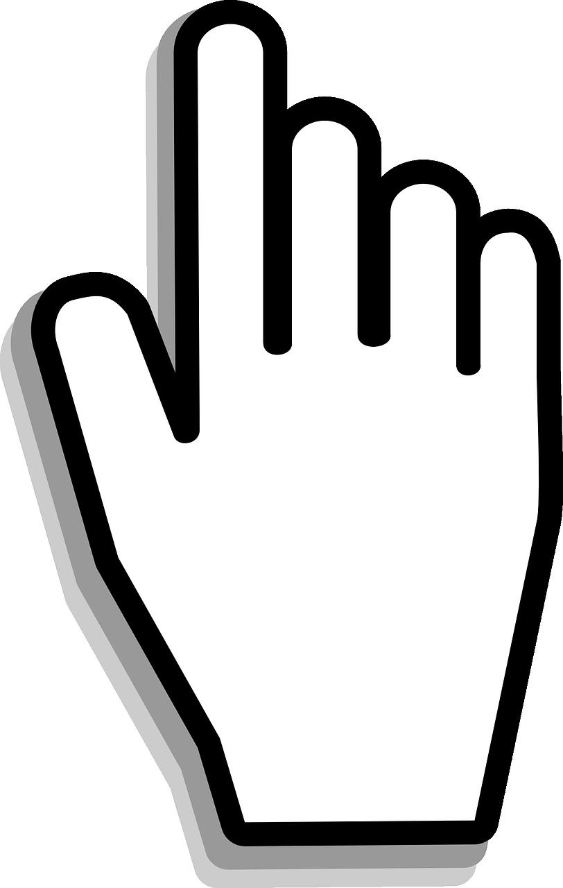 Mouse cursor hand transparent