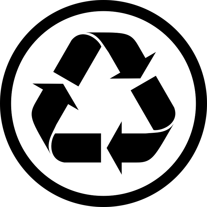free vector graphic recycle sign arrows cycle free