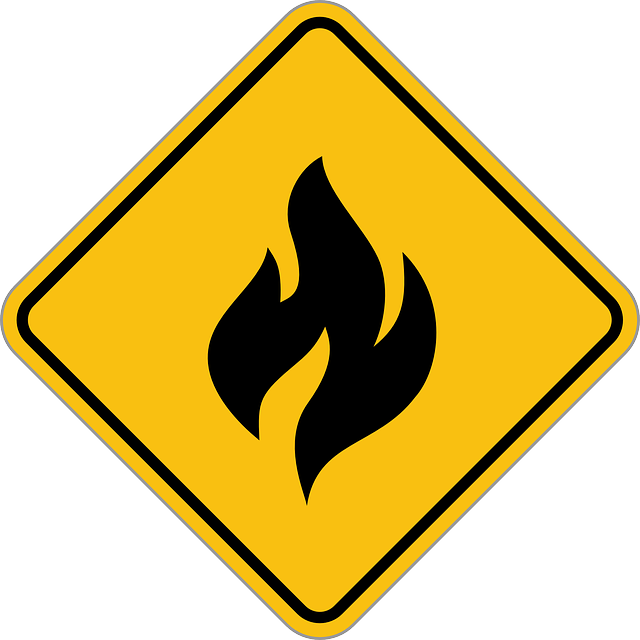 symbol of fire in the road