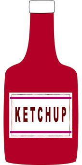 Ketchup Bottle Condiment Cooking Tomato Ke