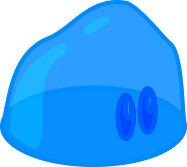Slime Jelly Aspic Jello Blue Funny Creatur