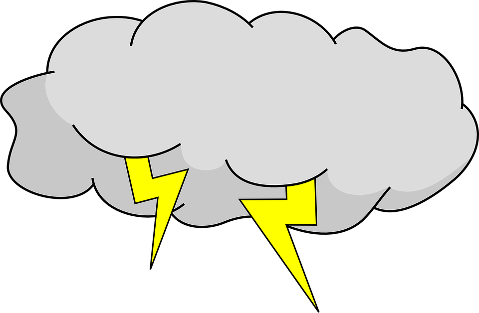 Lightning Thunder Cloud Sky Storm