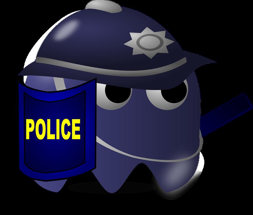 Policie Zradkyne Pacman Vektorova Grafika Zdarma Na Pixabay