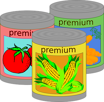 Canned Food Tin Can Vegetables Fast Food J