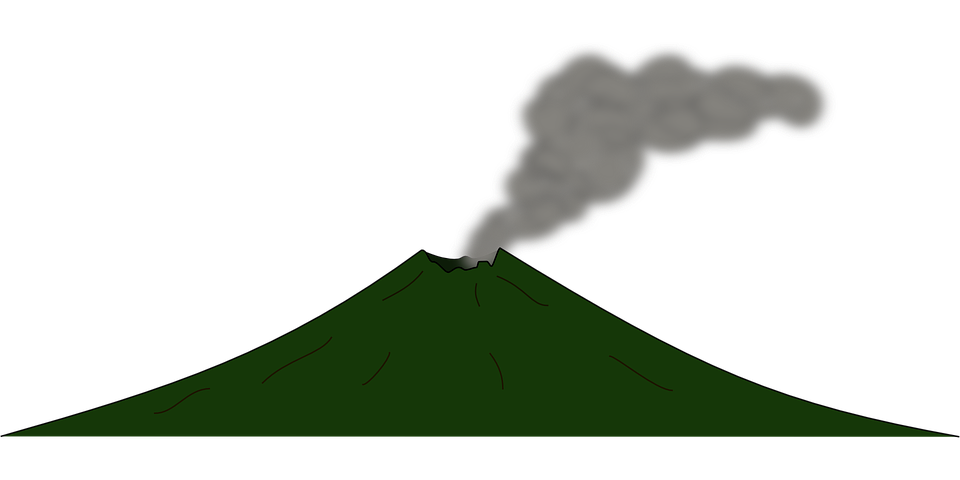 free vector graphic volcano  disaster  eruption  lava free commercial use vector files free commercial use vector line icons thick