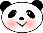 panda, bear, face