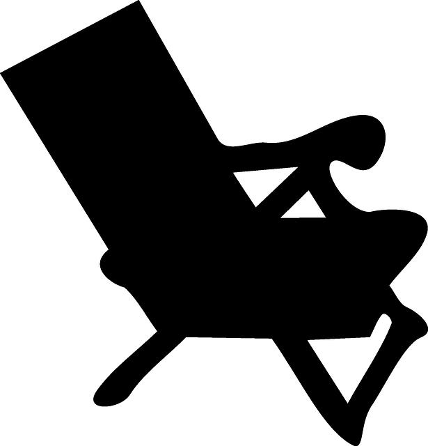 kostenlose vektorgrafik sonnenliege stuhl silhouette. Black Bedroom Furniture Sets. Home Design Ideas