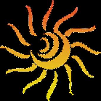 Sun Summer Abstract Red Rays Sunbeams Ligh