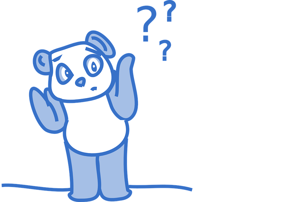 free vector graphic panda cute bear blue question free image on pixabay 149818