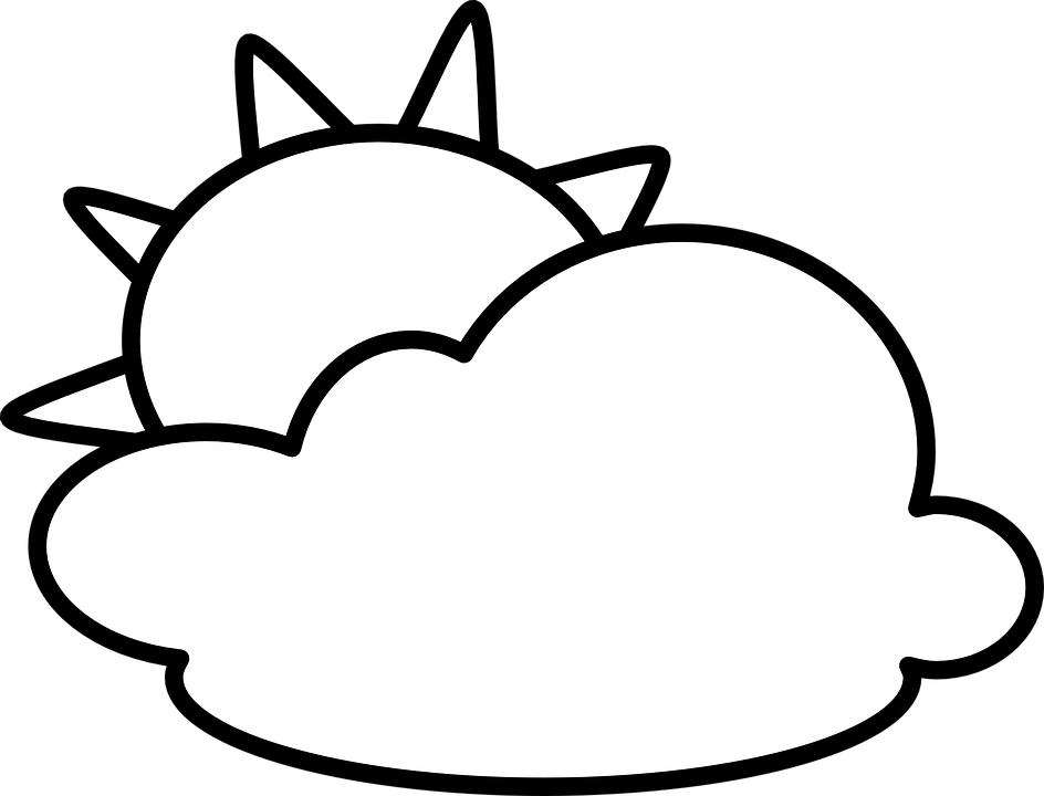 Bulutlu Hava Gunesli Pixabay Da Ucretsiz Vektor Grafik
