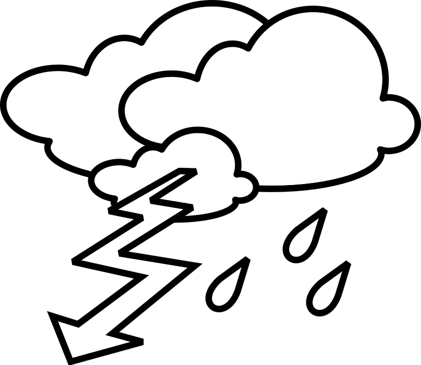 Stormy Weather Thunderstorm · Free vector graphic on Pixabay
