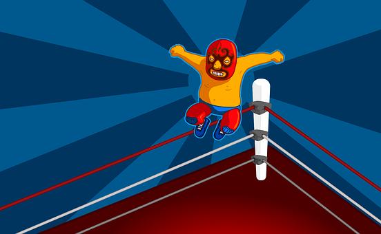Wrestler, Wrestling, Comic, Man, Fighter