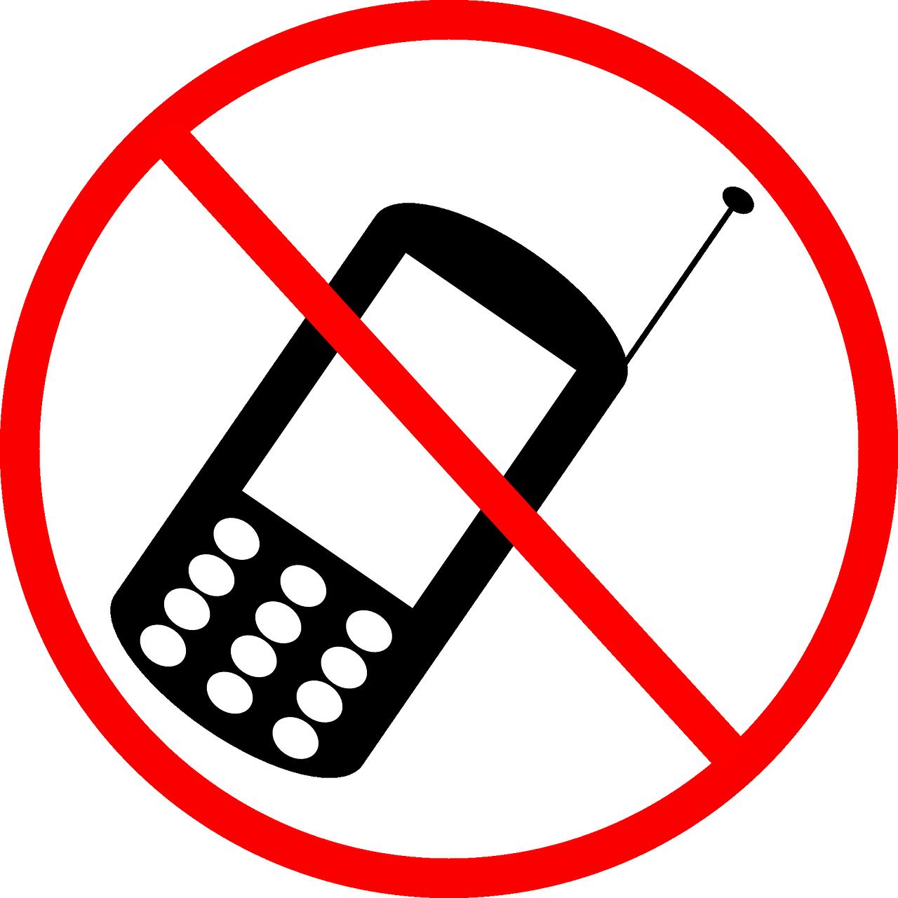 Для девочки, мобильный телефон запрещен картинка