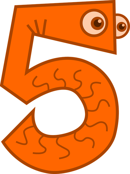 Counting Five Math · Free vector graphic on Pixabay