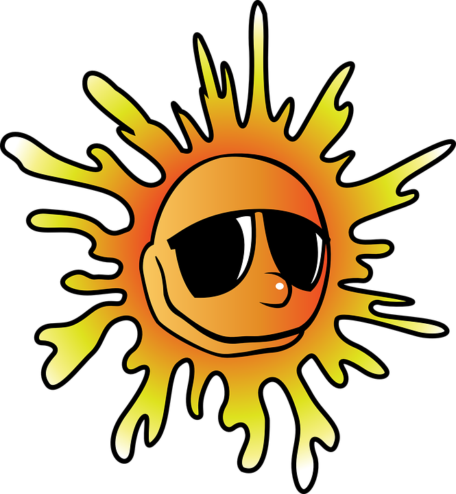 heat summer sun  u00b7 free vector graphic on pixabay Sun Smiley Face Clip Art Free Happy Face Sun Clip Art Free