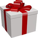 present, box, dole