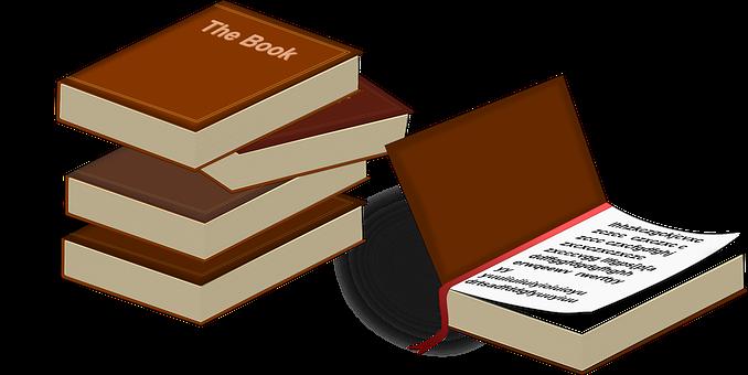 ライブラリ, 文学, 書籍, ブラウン, オープン, 読書, 学習, 勉強