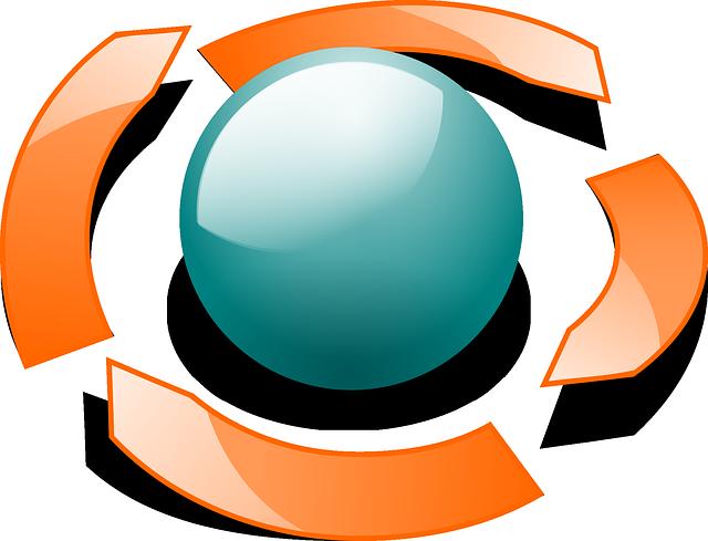 Free Vector Graphic Orbit Arrows Ball Glossy Circle