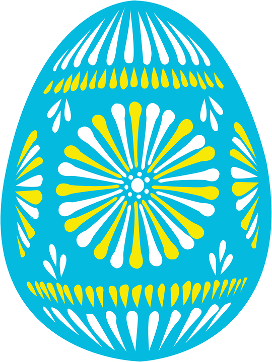 Easter Egg Decorated Holiday Spring Blue