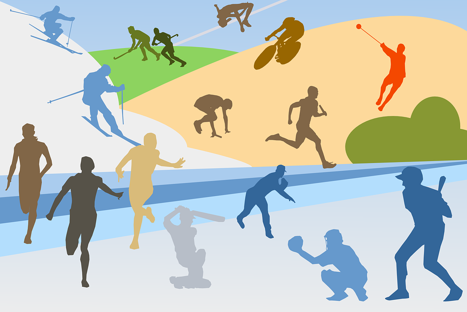 Sports Athletics Collage Free Vector Graphic On Pixabay