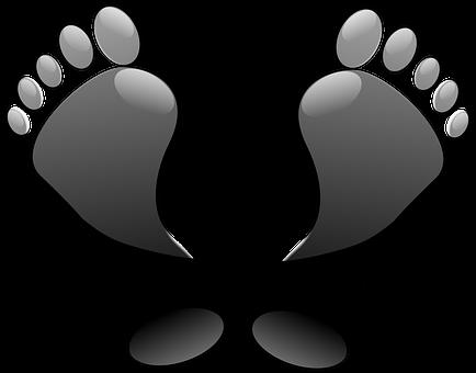 足, つま先, 足跡, ブラック, 光沢紙
