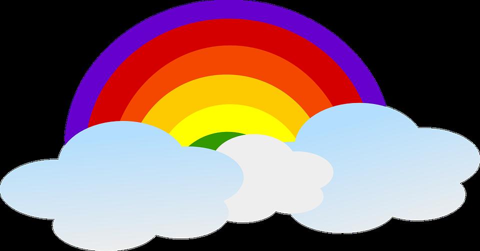 Image vectorielle gratuite arc en ciel nuages ciel - Image arc en ciel gratuite ...