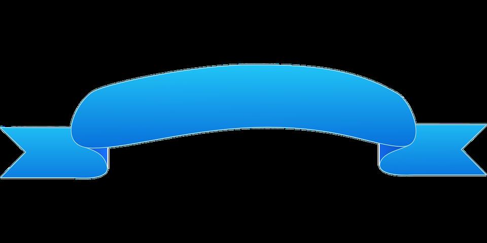 Banner Ribbon Blue · Free vector graphic on Pixabay  Banner Ribbon B...