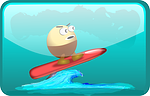 surfing, egghead, waves