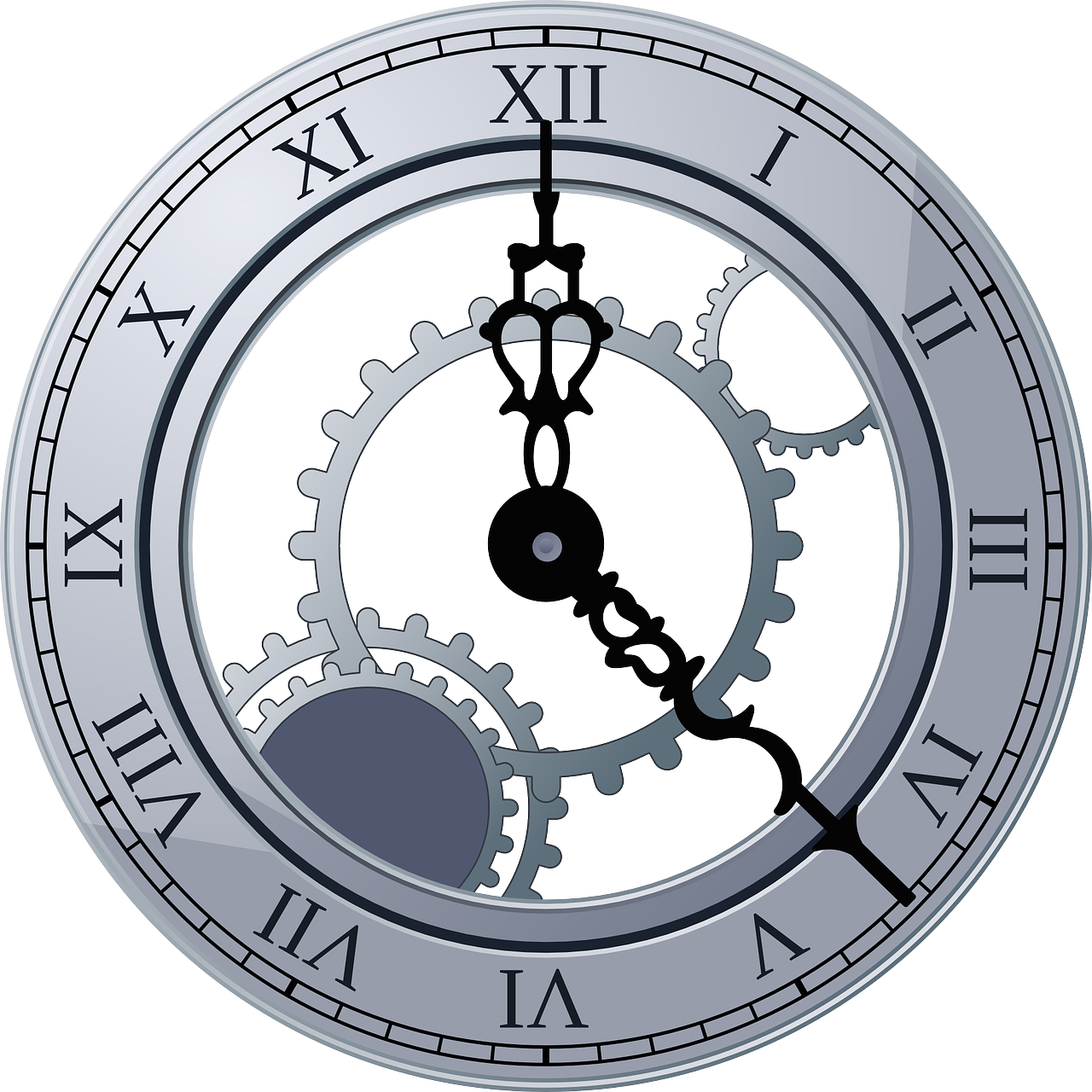 Clock Face Numbers Roman Free Vector Graphic On Pixabay
