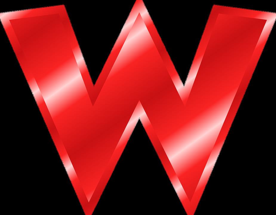 Alphabet W Abc Free Vector Graphic On Pixabay