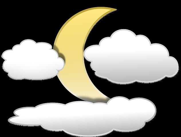 Рисуем луну за облаками
