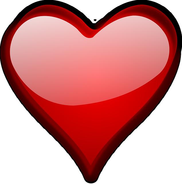Cuore amore san valentino grafica vettoriale gratuita su for Clipart cuore