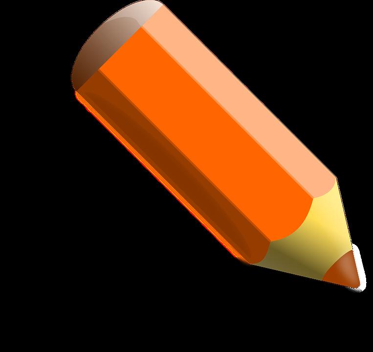 Crayon Colored Pencil Orange