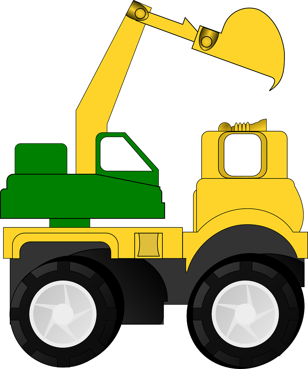 Backhoe Excavator Dredger Free Vector Graphic On Pixabay
