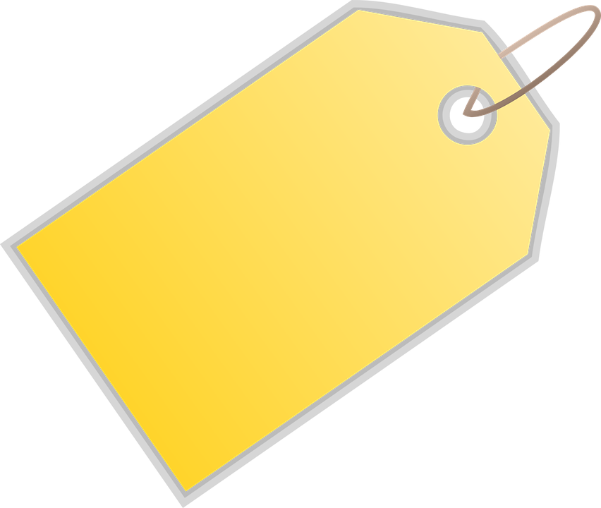 Free Vector Graphic Tag Label Yellow Price Tag