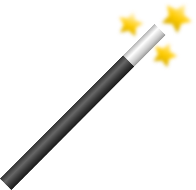 Free vector graphic wand wizard magic stars yellow for Wizard wand