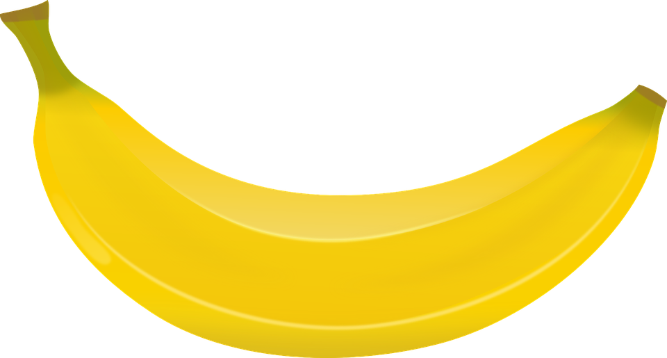 banana fruit yellow sweet bent