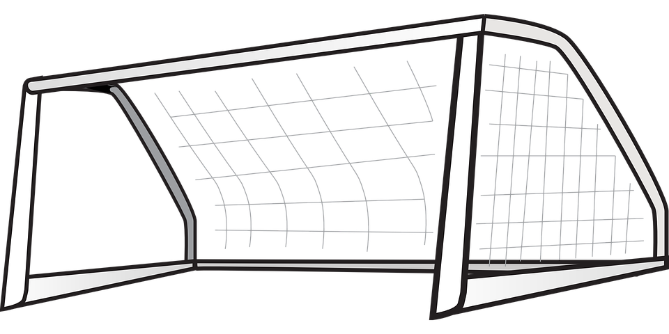 Goal football net free vector graphic on pixabay for Football goal post coloring page
