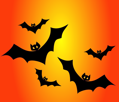 Bats, Haunted, Nocturnal, Flying