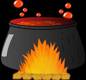 Cauldron, Fire, Pot, Soup, Stew, Witch