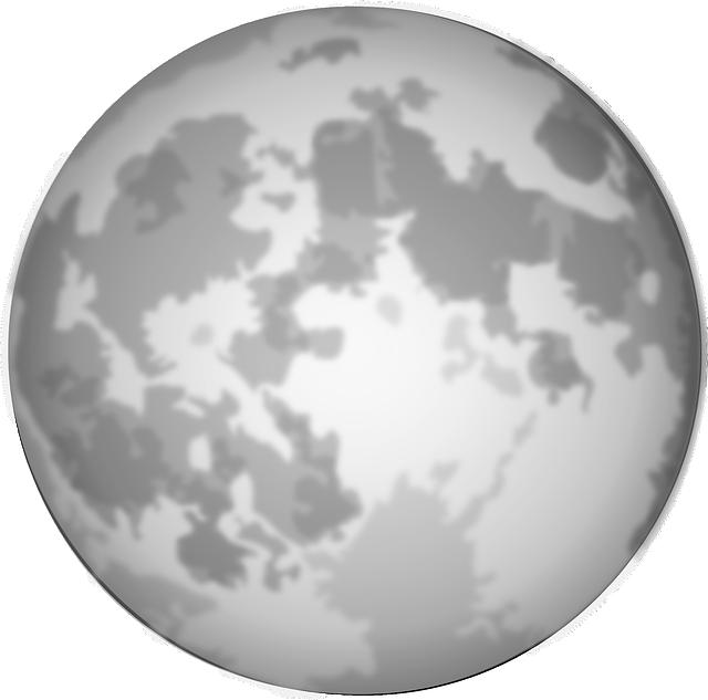 Lua Cheia Lunar Grafico Vetorial Gratis No Pixabay