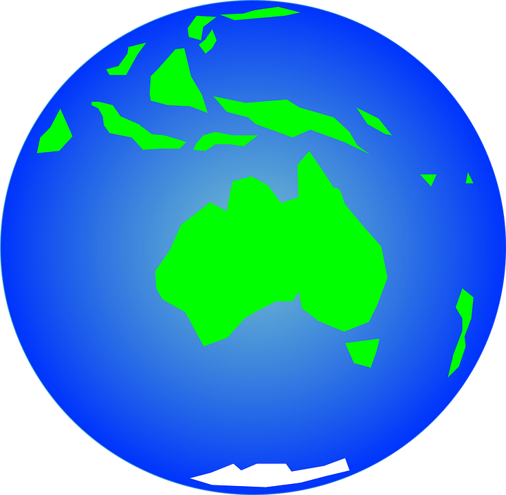 Australia earth globe free vector graphic on pixabay australia earth globe map oceania planet world gumiabroncs Image collections