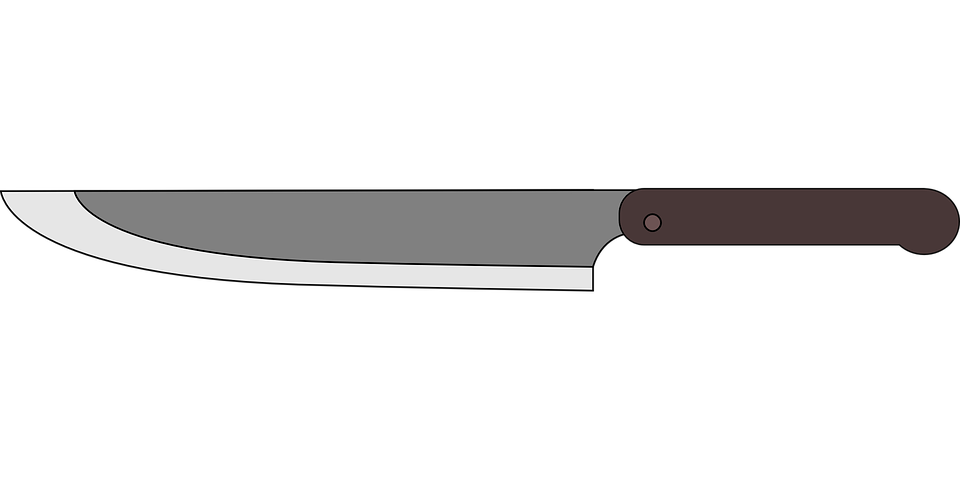 Kitchen Knife Vector free vector graphic: blade, cooking, kitchen, knife - free image