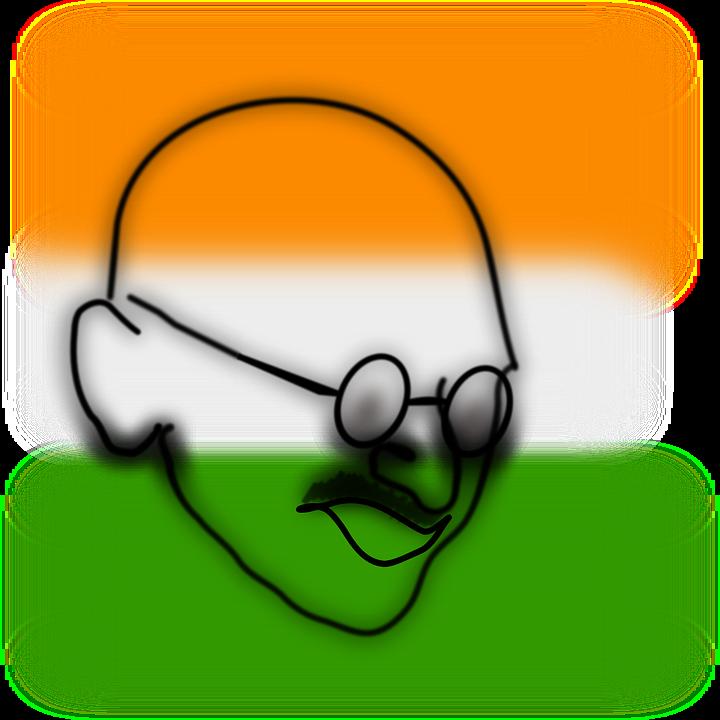 マハトマガンジー インド 顔 Pixabayの無料ベクター素材